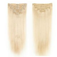 "NK Beauty Hair Straight Human Hair 22"" 18pcs Clip In Full Head  Remy Human Hair Extension 110 Grams"