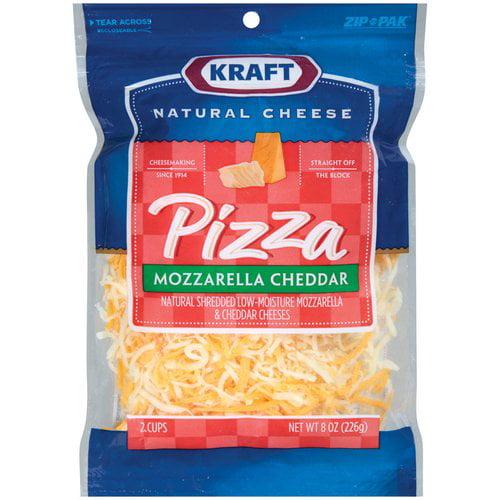 Kraft Natural Cheese Pizza Mozzarella & Cheddar Shredded Shredded Cheese, 8 oz