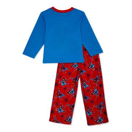 Spider-Man Toddler Boys Long Sleeve Microfleece Pajamas, 2pc Set