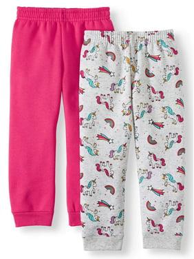 Garanimals Solid Sweatpants & Printed Sweatpants, 2pc Multipack (Toddler Girls)