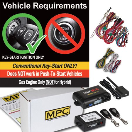 Complete 1-Button Remote Start Kit For 2003-2004 Mercury Grand Marquis W/Bypass