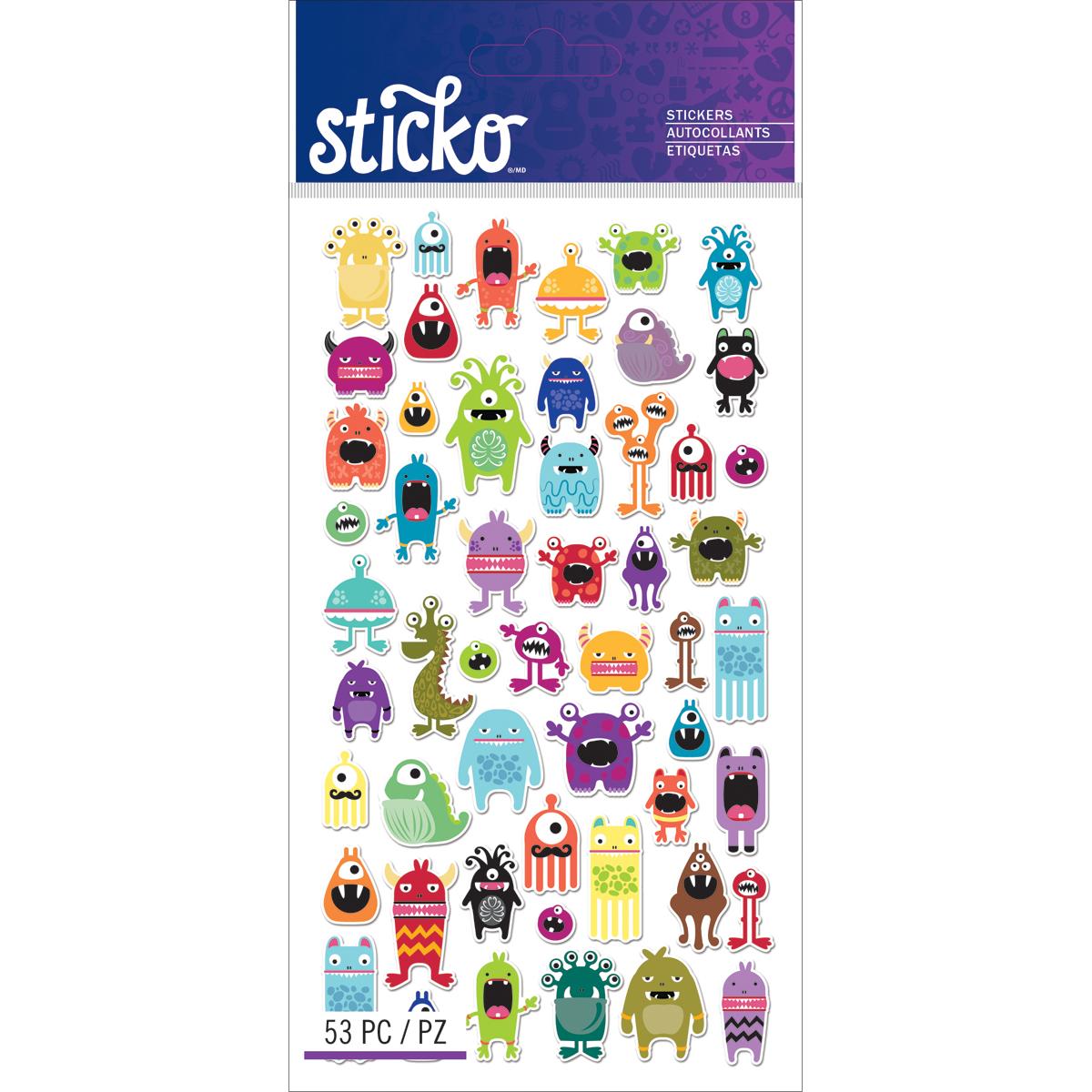 Sticko Classic Stickers-Mini Monsters