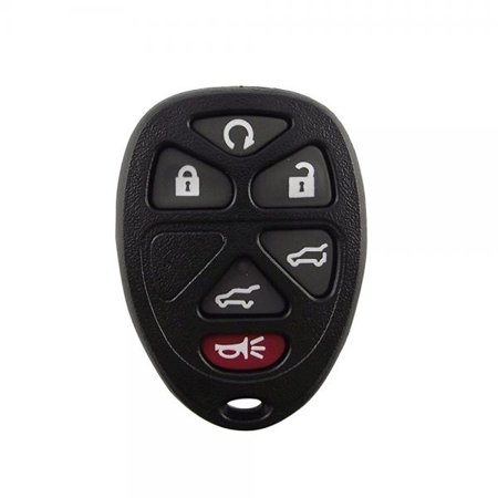 Chevrolet Tahoe Remote (6 Button New Pad + Button Remote key Case For 2007-2012 Cadillac Escalade GMC Yukon Chevrolet Suburban Tahoe No chips Inside)