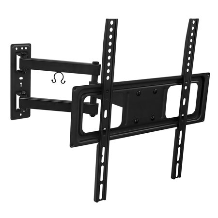mount it swivel tv wall mount bracket with full motion articulating arm 17 inch extension for. Black Bedroom Furniture Sets. Home Design Ideas