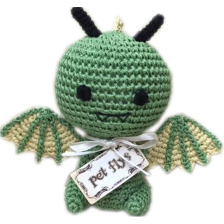 Knit Knacks Drogo The Dragon Organic Cotton Small Dog Toy Walmart