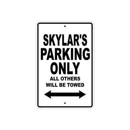 Boston Red Sox Parking Sign - Skylar's Parking Only All Others Will Be Towed Name Gift Novelty Metal Aluminum 8