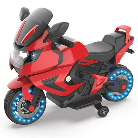 HOVERHEART Kids Electric Power Motorcycle 6V Ride On Bike Red](Fire Truck For Kids To Ride)