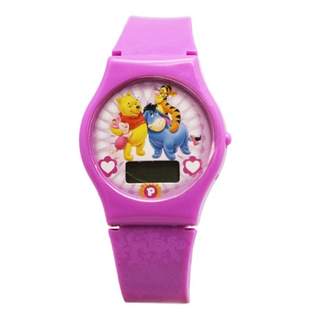 Disney's Winnie the Pooh Purple Colored Digital Screen Character Watch