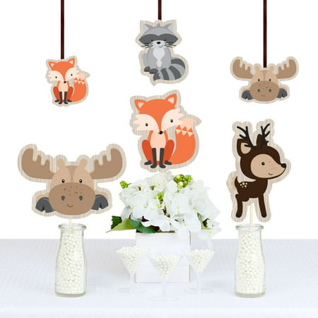 Woodland Creatures - Animal Shaped Decorations DIY Baby Shower or Birthday Party Essentials - Set of 20 - Outside Baby Shower Ideas