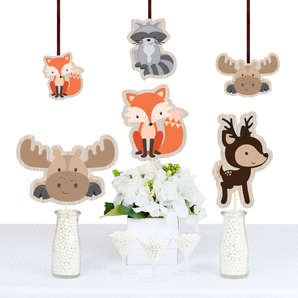 Woodland Creatures   Animal Shaped Decorations DIY Baby Shower Or Birthday  Party Essentials   Set Of