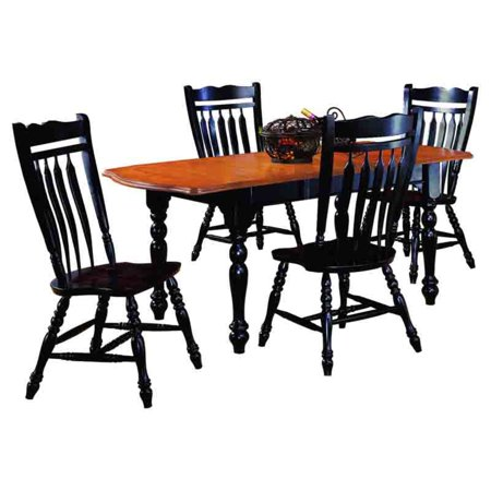 Sunset Trading 5-Piece Drop Leaf Extension Dining Set with Aspen Chairs
