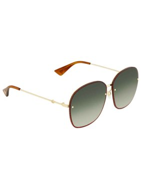 672005f168 Product Image Gucci Green Gradient Oval Sunglasses GG0228S 001 63