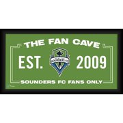 "Seattle Sounders FC Framed 10"" x 20"" Fan Cave Collage"