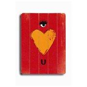Artehouse LLC Eye Heart U by Lisa Weedn Graphic Art Plaque