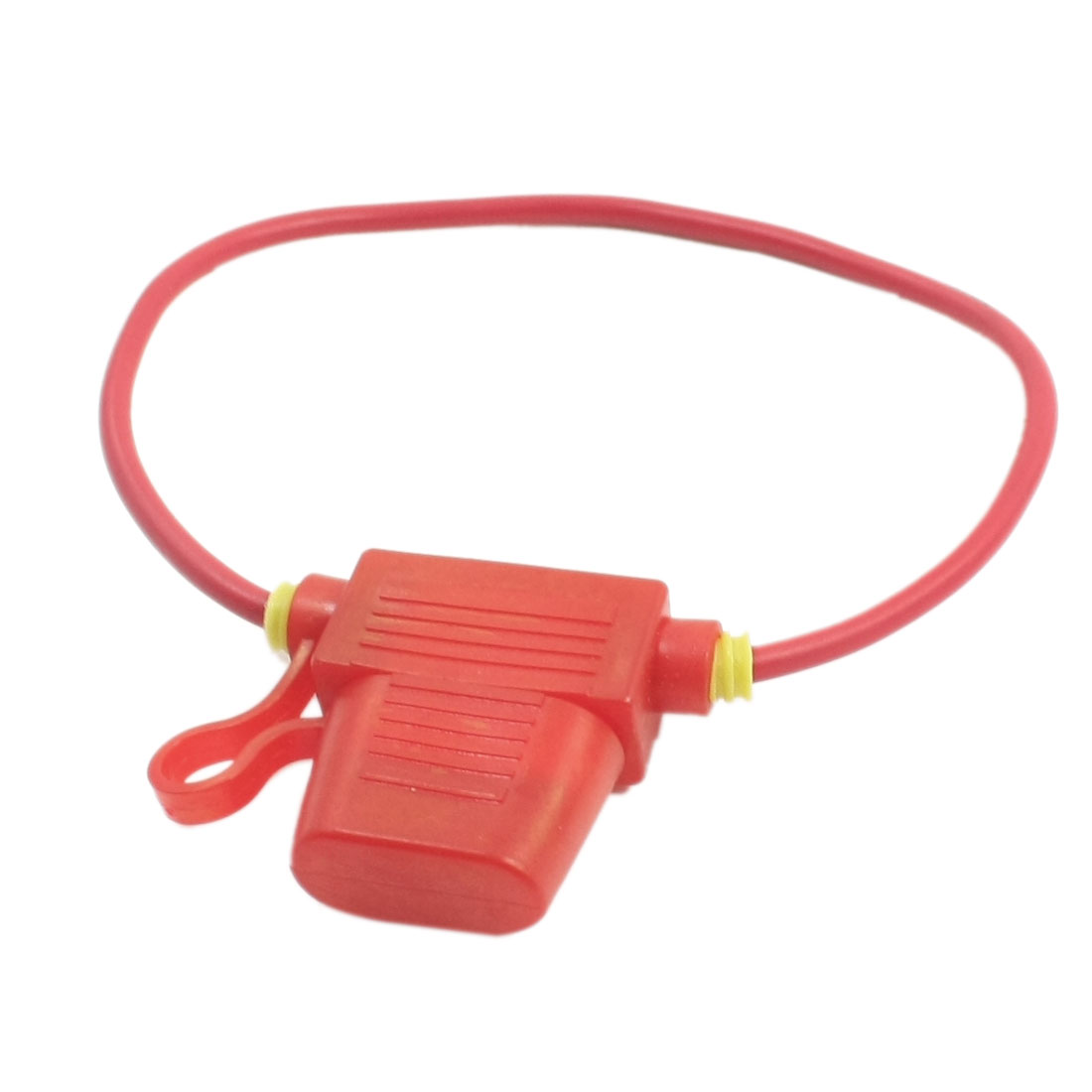 Unique Bargains 32V 10A Fuse + Wire Leads Van Automobile Truck Blade Fuse Holder Red