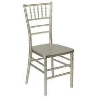 Flash Furniture HERCULES PREMIUM Series Champagne Resin Stacking Chiavari Chair