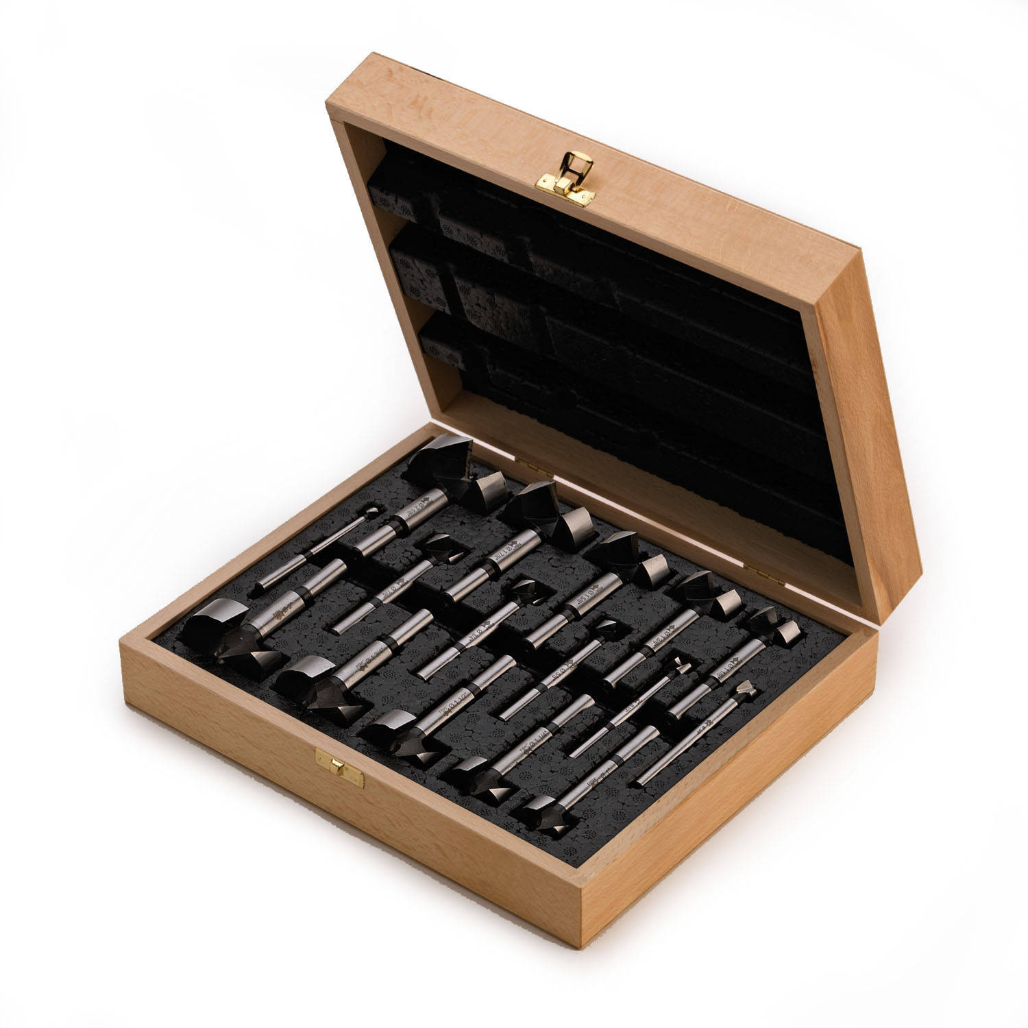 "Wave Cutter 16-Piece Set In Wooden Box Incl. 1/4""-2-1/8"" Dia"