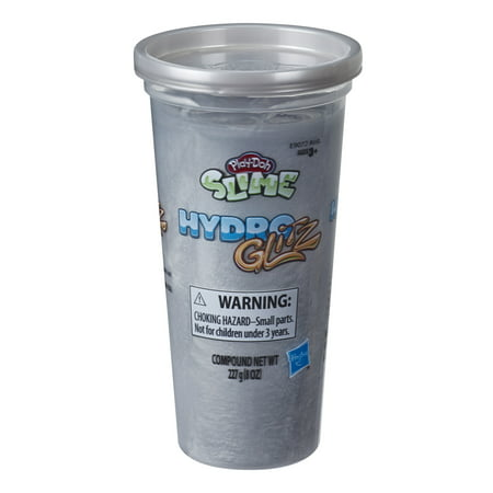 Play-Doh Hydroglitz Silver Slime, 8 Ounces of Play-Doh Slime Compound