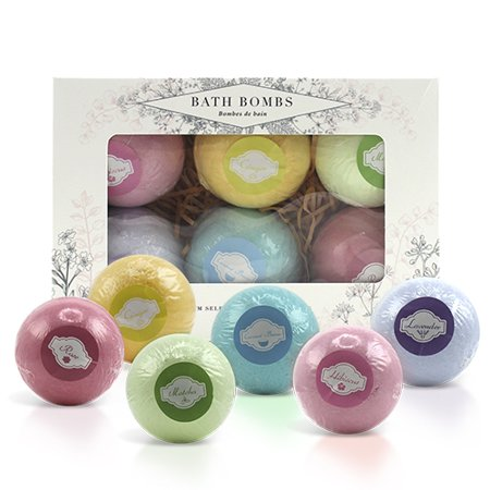 Lush Bath Bombs Large Set - Lavender, Rose, Ginger, Hibiscus, Matcha, Coconut Breeze - Unwind with a Luxury Bathing Experience - Set of 6 from BeautyFrizz