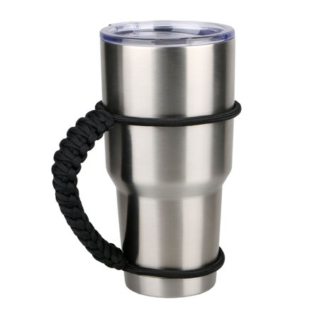 Cup Holder Dimensions - Parachute Cord Handmade Anti-slip Double Wrapped Handle for 30oz Yeti Ritc Ozark Tumbler Rambler Cup Holder
