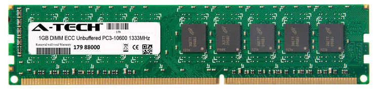 1GB Module PC3-10600 1333MHz ECC Unbuffered DDR3 DIMM Server 240-pin Memory Ram