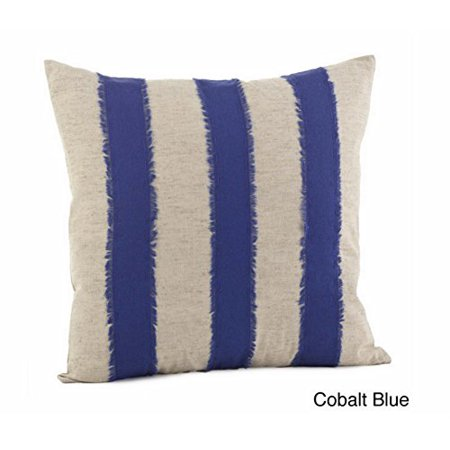 Banded Decorative Throw Pillow, 18-inch Square (Cobalt blue case only) (Cobalt Throw Pillow)