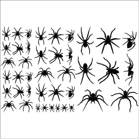 Halloween Spiders set of 40 vinyl lettering decal home decor wall art sticker](Halloween Wall Decor)