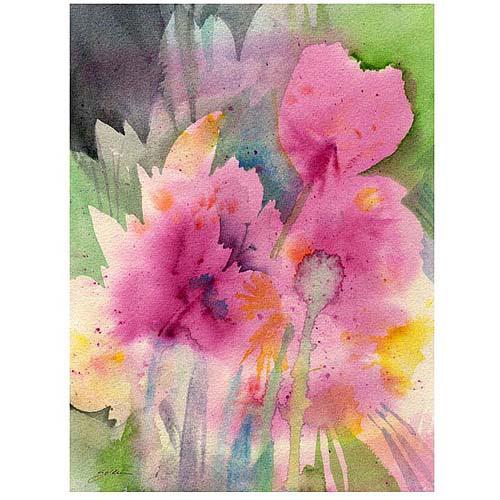 "Trademark Art ""Mouve Garden"" Canvas Art by Sheila Golden"