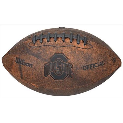 Gulf Coast Sales WTF1528XBOH NCAA Vintage Logo Mini Throwback Design Football - Ohio State