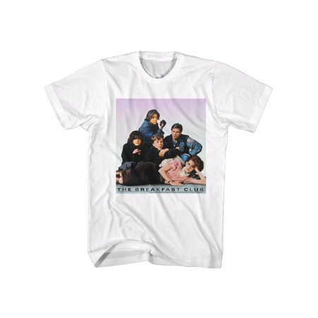 Breakfast Club 80s Teen Movie Film The Club Group Photo Shot Adult T-Shirt Tee](Group Photo Clothing Ideas)
