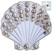 Bella Crystal Golf Ball Marker & Hat Clip - Shell (White)