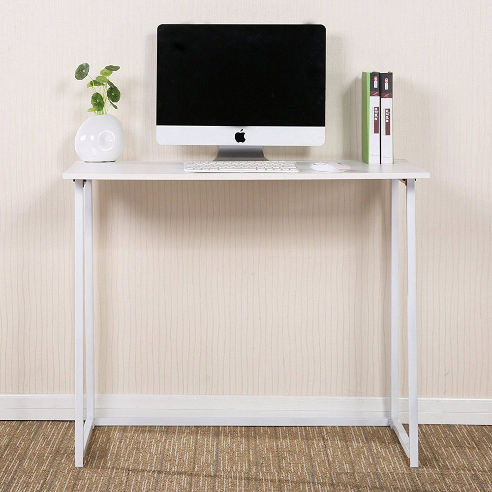 Ktaxon Folding Writing Computer Desk Home Office Study PC Writing Table ,White