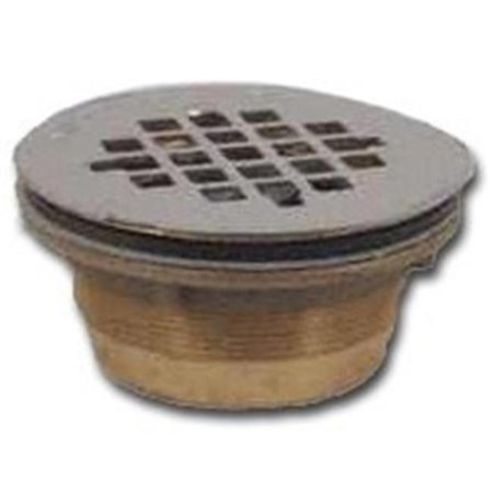 Shower Drain - OATEY COMPANY Brass No Caulk Shower Drain With Stainless-Steel Strainer Cover 42150