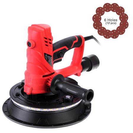 Machine Handheld - VIVOHOME 850W Electric Adjustable Variable Speed Hand Held Drywall Sander Machine with Automatic Vacuum System LED Light and Dust Bag