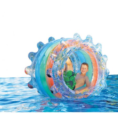 b4 Adventure Inflatable Jumbo Party Wheel for grass or pool - Pool Party Items