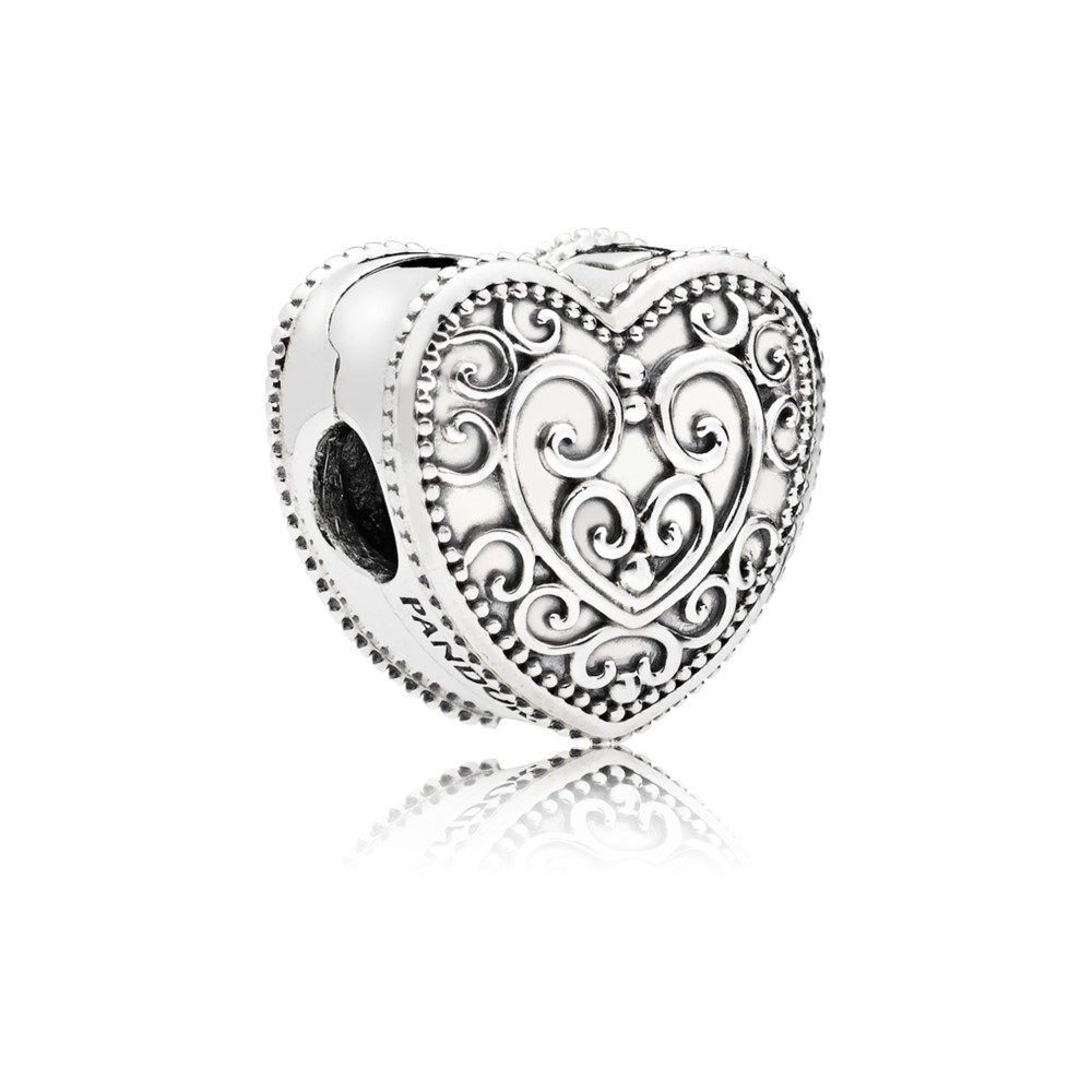 Pandora Heart clip in sterling silver Charm 797024