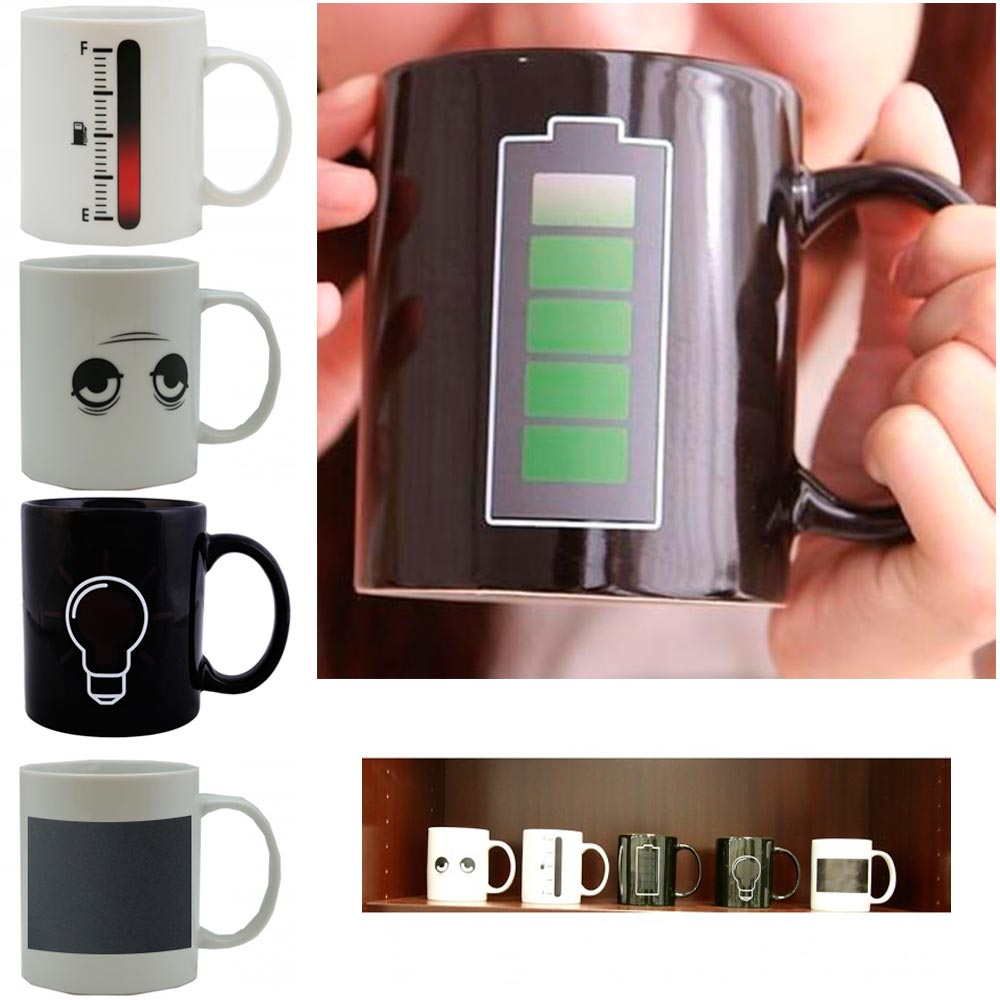 1 Magic Battery Tea Water Hot Cold Heat Sensitive Color Changing Mug Cup Coffee by XHH