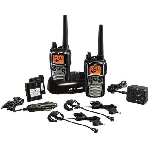 Midland GMRS 2-Way Radio with 42 Channels, Black