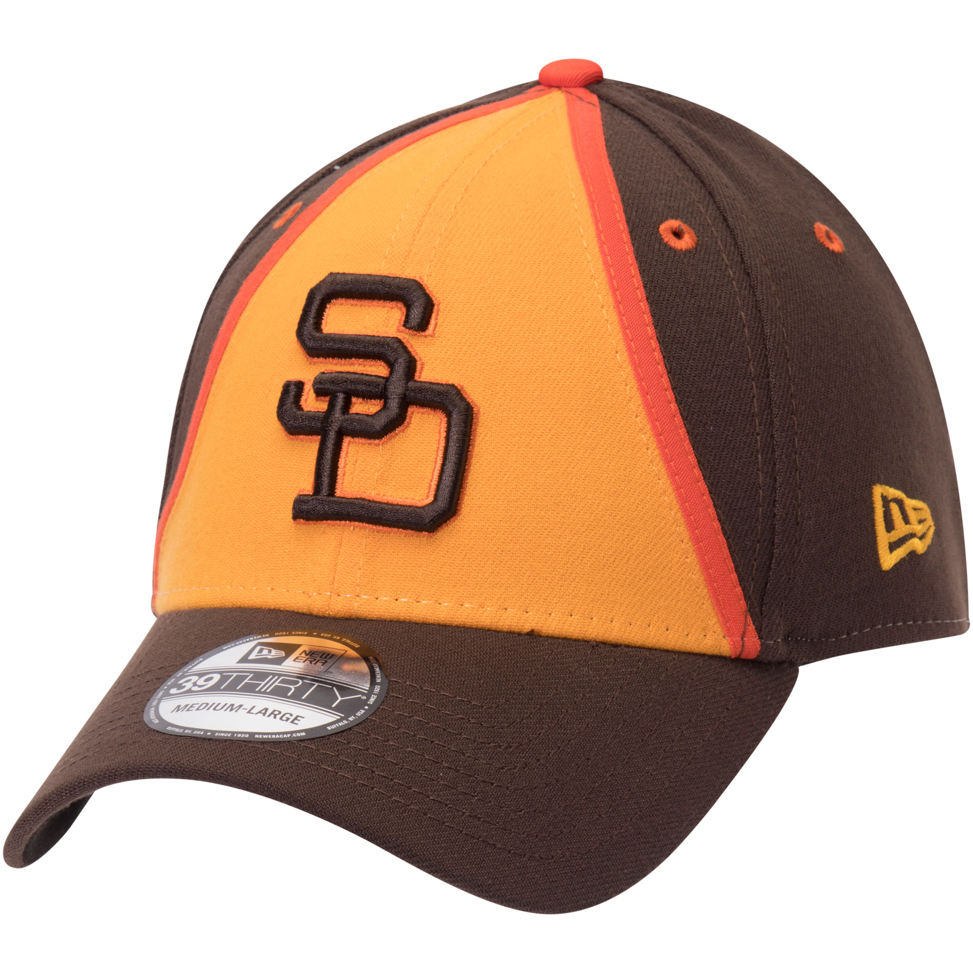San Diego Padres New Era Cooperstown Collection Team Classic 39THIRTY Flex Hat - Gold/Brown