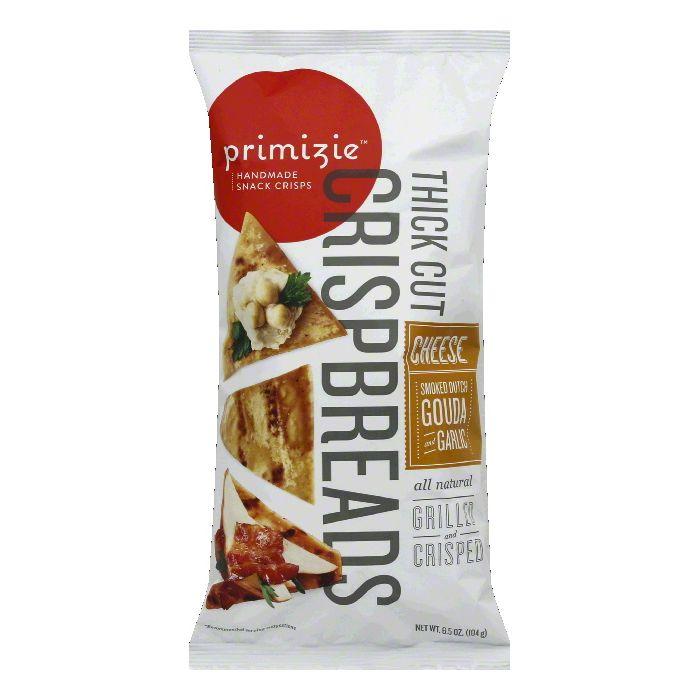Primizie Snack Smoked Gouda & Garlic Crispbread, 8 OZ (Pack of 12) by