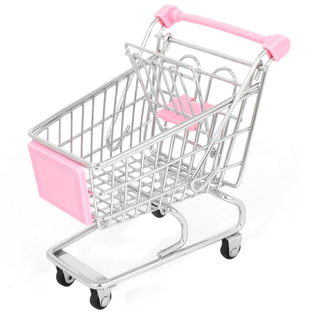 Stainless Steel Mini-Shopping Handcart Shopping Utility Cart Mode Pink