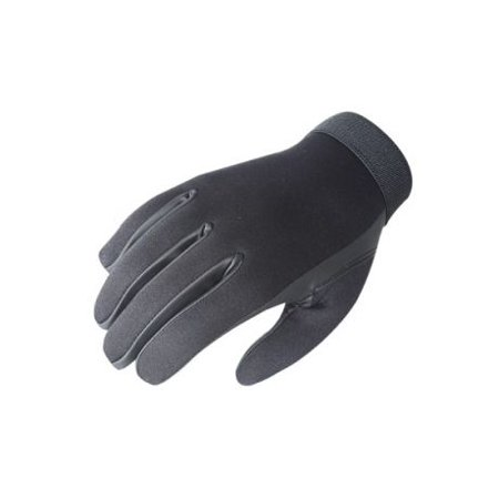 Neoprene Police Search Gloves, Black, Large Black Lined Neoprene Gloves