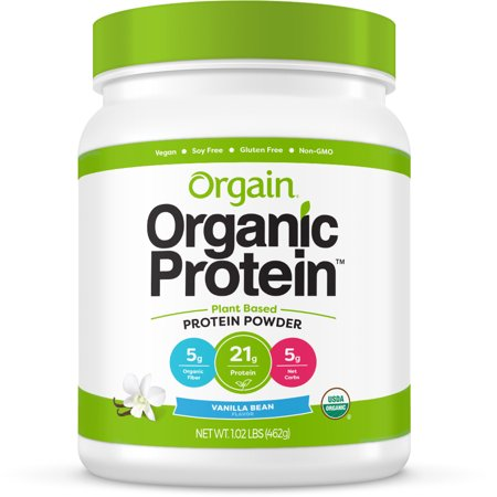 Orgain Organic Vegan Protein Powder, Vanilla, 21g Protein, 1.0