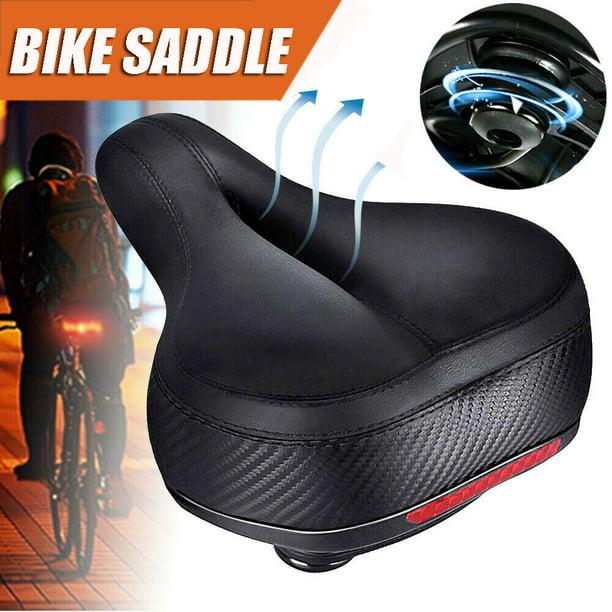 Comfort Bike Bicycle Saddle Seat Extra Soft Pad Wide Big Bum Gel Cushion Black