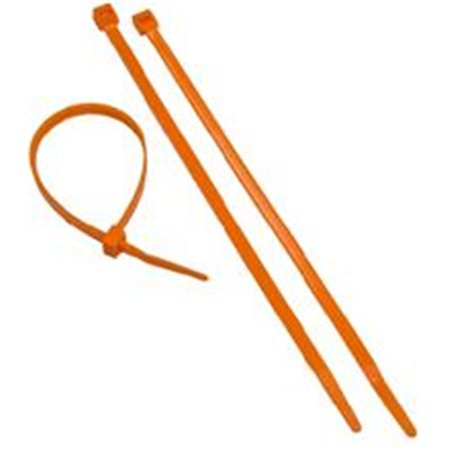Orange Nylon Cable Ties 50LB 8in. - -