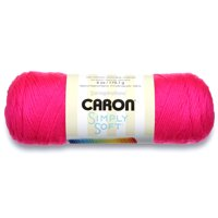 Caron Simply Soft Acrylic Black Yarn, 1 Each