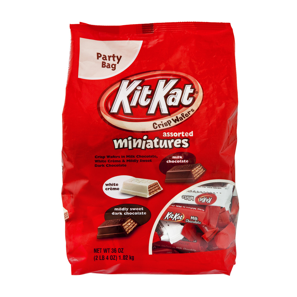 KIT KAT® Assorted Miniatures Party Bag, 36.0 OZ