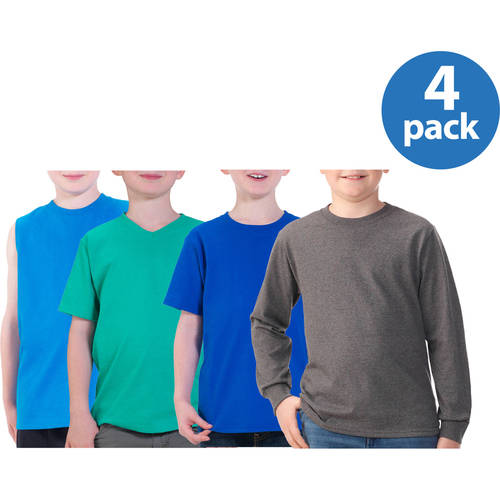 Fruit of the Loom Boys' Sleeveless and Short Sleeve Tees, Your Choice 4-Pack