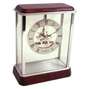 Bey-Berk International Rosewood Mantel Clock