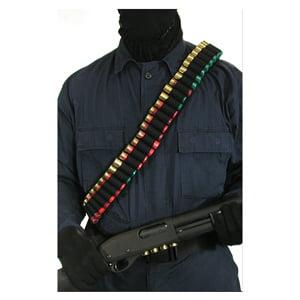 BLACKHAWK SHOTSHELL BANDOLIER UNIVERSAL SHOTGUN NYLON BLACK